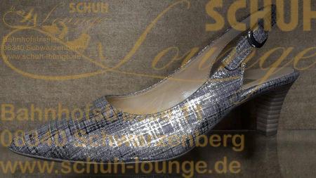 Für festliche Anlässe bestens gerüstet sind Sie mit diesem Top modischen Slingpumps aus Leder in metallic-gold.