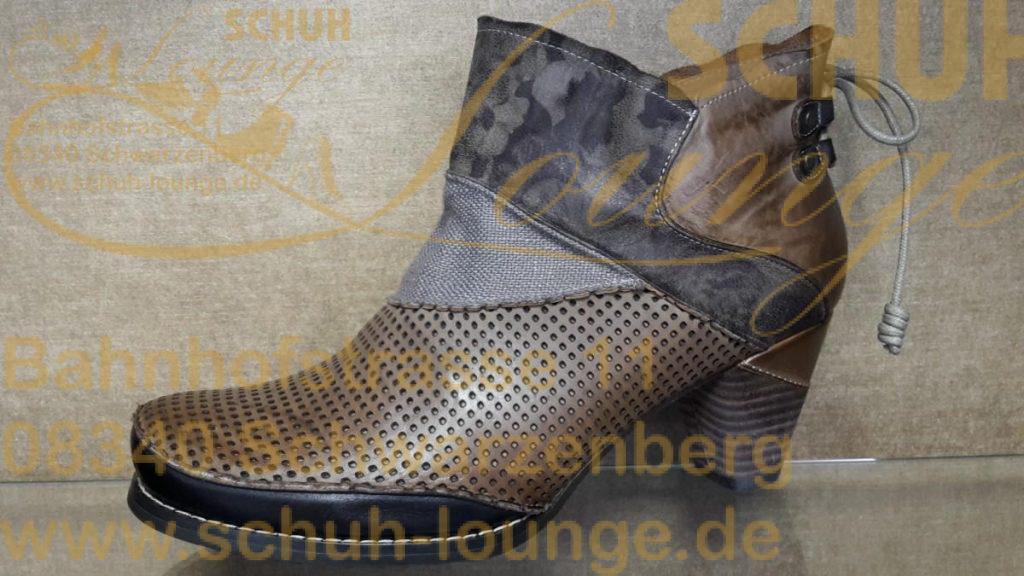 Design: Wechselfußbett 5 Loch Schnürung Materialmix; Muster