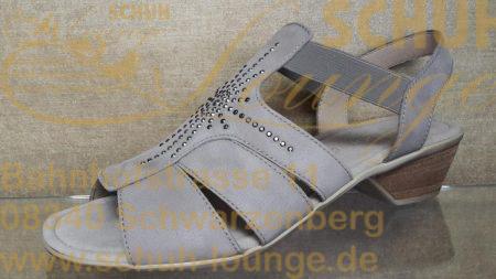Schicke und super bequeme Damensandalette von Gabor aus echtem Nubukleder in beige.